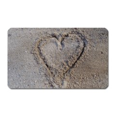 Heart In The Sand Magnet (rectangular)