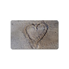 Heart In The Sand Magnet (name Card) by yoursparklingshop