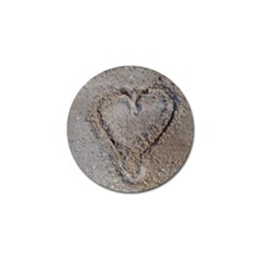 Heart In The Sand Golf Ball Marker