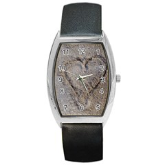 Heart In The Sand Tonneau Leather Watch
