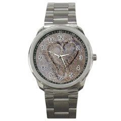 Heart In The Sand Sport Metal Watch