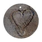Heart in the sand Round Ornament (Two Sides) Front