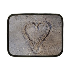 Heart In The Sand Netbook Sleeve (small) by yoursparklingshop