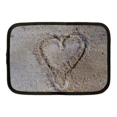 Heart In The Sand Netbook Sleeve (medium) by yoursparklingshop