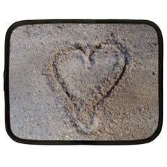Heart In The Sand Netbook Sleeve (large)
