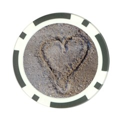 Heart In The Sand Poker Chip (10 Pack)