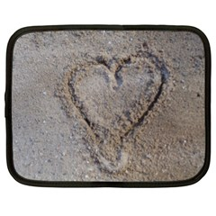 Heart In The Sand Netbook Sleeve (xl)