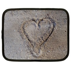 Heart In The Sand Netbook Sleeve (xxl)