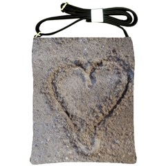 Heart In The Sand Shoulder Sling Bag