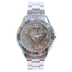 Heart In The Sand Stainless Steel Watch by yoursparklingshop