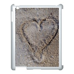 Heart In The Sand Apple Ipad 3/4 Case (white) by yoursparklingshop