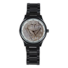 Heart In The Sand Sport Metal Watch (black)