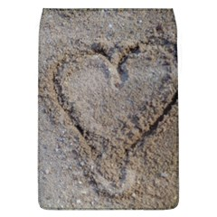 Heart In The Sand Removable Flap Cover (large) by yoursparklingshop