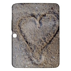 Heart In The Sand Samsung Galaxy Tab 3 (10 1 ) P5200 Hardshell Case  by yoursparklingshop