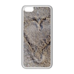 Heart In The Sand Apple Iphone 5c Seamless Case (white) by yoursparklingshop