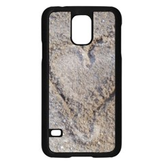 Heart In The Sand Samsung Galaxy S5 Case (black) by yoursparklingshop
