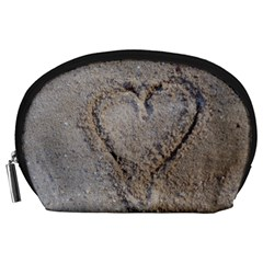Heart In The Sand Accessory Pouch (large)