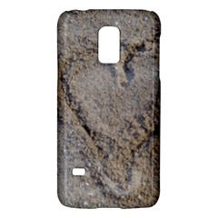 Heart In The Sand Samsung Galaxy S5 Mini Hardshell Case