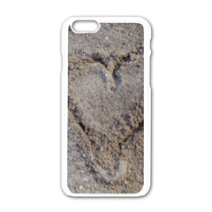 Heart In The Sand Apple Iphone 6 White Enamel Case by yoursparklingshop