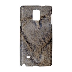 Heart In The Sand Samsung Galaxy Note 4 Hardshell Case by yoursparklingshop