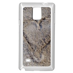 Heart In The Sand Samsung Galaxy Note 4 Case (white)