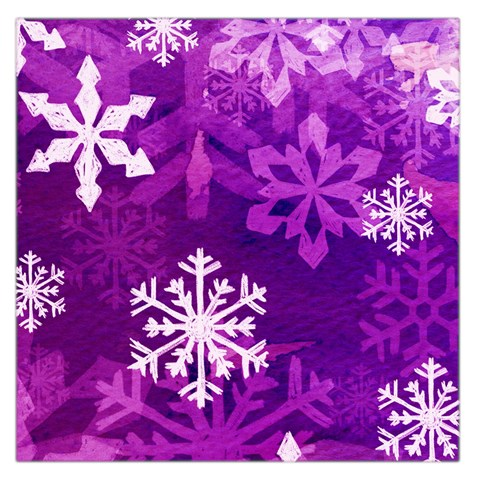 Purple  Snowflake Large Satin Scarf By Catvinnat   Large Satin Scarf (square)   P9gg6an259ry   Www Artscow Com Front