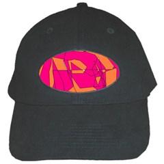 Red Orange 5000 Black Baseball Cap by yoursparklingshop