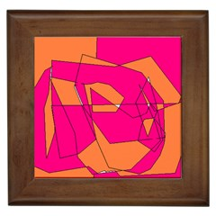 Red Orange 5000 Framed Ceramic Tile