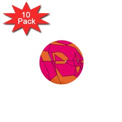 Red Orange 5000 1  Mini Button (10 Pack)