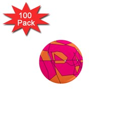 Red Orange 5000 1  Mini Button Magnet (100 Pack)