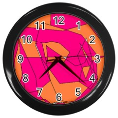 Red Orange 5000 Wall Clock (black)
