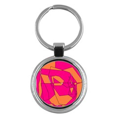 Red Orange 5000 Key Chain (round) by yoursparklingshop