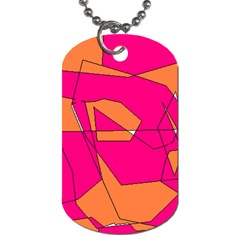 Red Orange 5000 Dog Tag (one Sided)