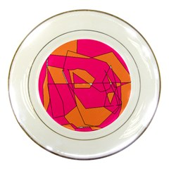 Red Orange 5000 Porcelain Display Plate by yoursparklingshop