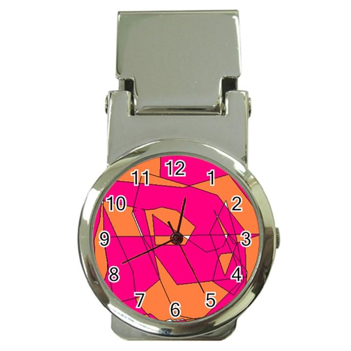 Red Orange 5000 Money Clip with Watch