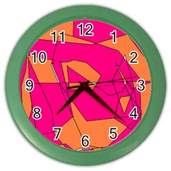 Red Orange 5000 Wall Clock (color)