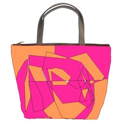 Red Orange 5000 Bucket Handbag