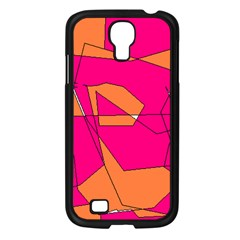 Red Orange 5000 Samsung Galaxy S4 I9500/ I9505 Case (black) by yoursparklingshop