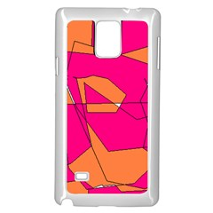 Red Orange 5000 Samsung Galaxy Note 4 Case (white)