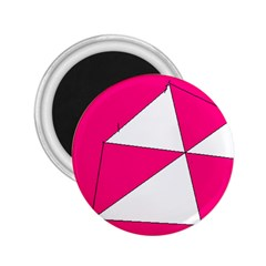 Pink White Art Kids 7000 2 25  Button Magnet