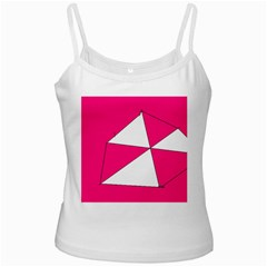 Pink White Art Kids 7000 White Spaghetti Tank