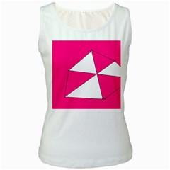 Pink White Art Kids 7000 Women s Tank Top (white)