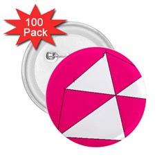 Pink White Art Kids 7000 2 25  Button (100 Pack)