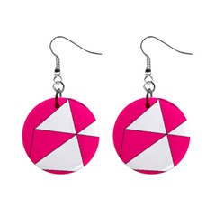 Pink White Art Kids 7000 Mini Button Earrings