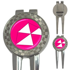 Pink White Art Kids 7000 Golf Pitchfork & Ball Marker