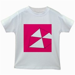 Pink White Art Kids 7000 Kids T Shirt (white)