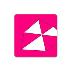 Pink White Art Kids 7000 Magnet (square)