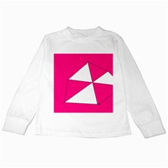 Pink White Art Kids 7000 Kids Long Sleeve T Shirt
