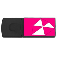 Pink White Art Kids 7000 4gb Usb Flash Drive (rectangle) by yoursparklingshop