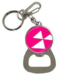 Pink White Art Kids 7000 Bottle Opener Key Chain
